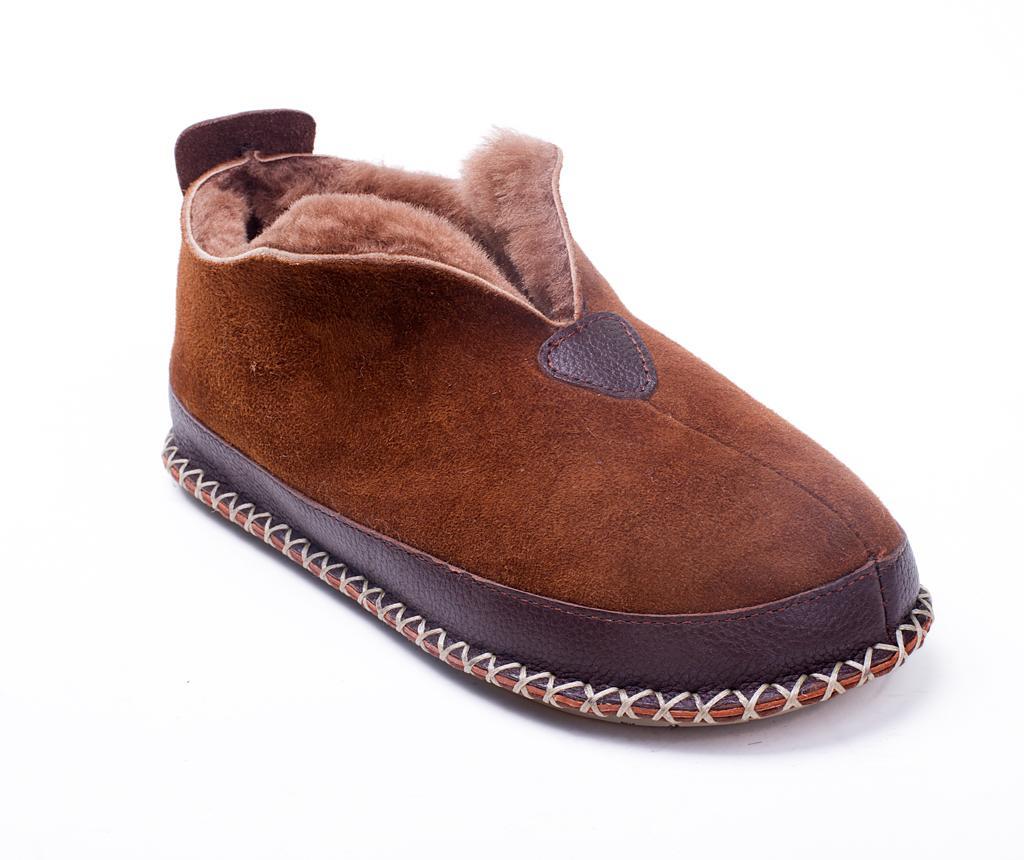 Papuci de casa dama IvyFur Brown 39