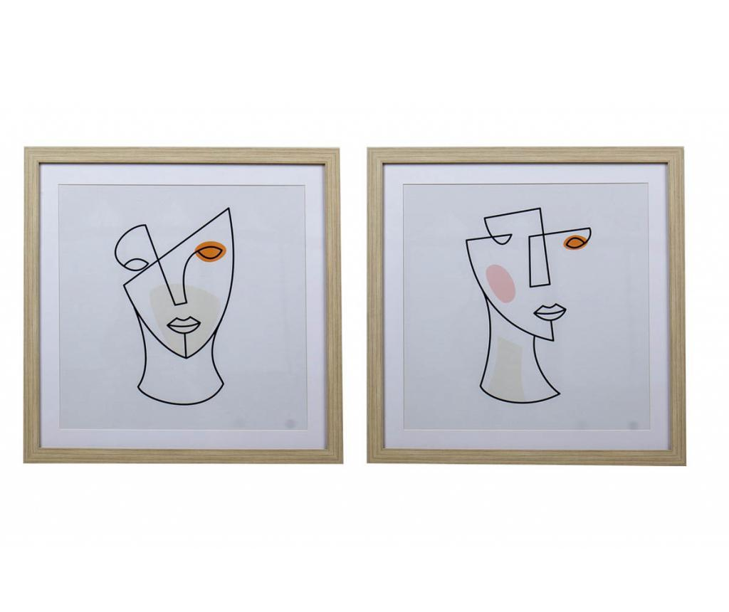 Set 2 tablouri Harriot 50x50 cm