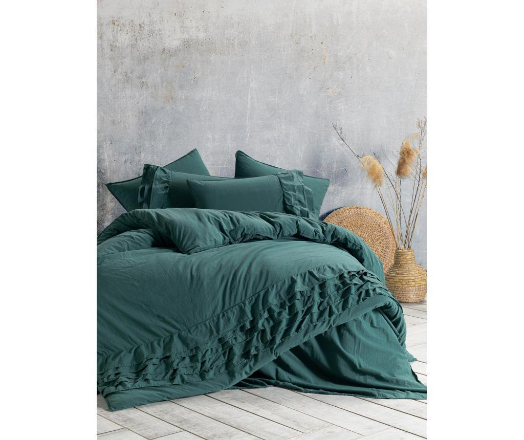 Lenjerie de pat King Extra Sillage Dark Green vivre.ro