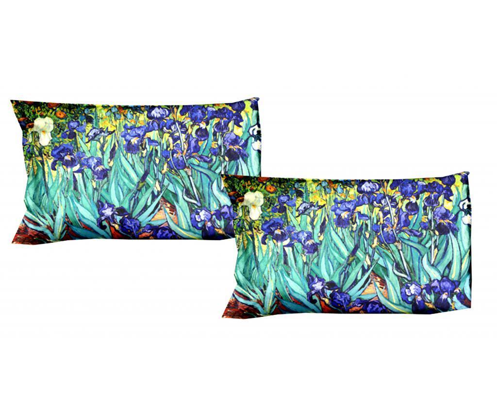 Set 2 fete de perna Van Gogh Iris 50x80 cm - Polo Ovest, Multicolor imagine vivre.ro