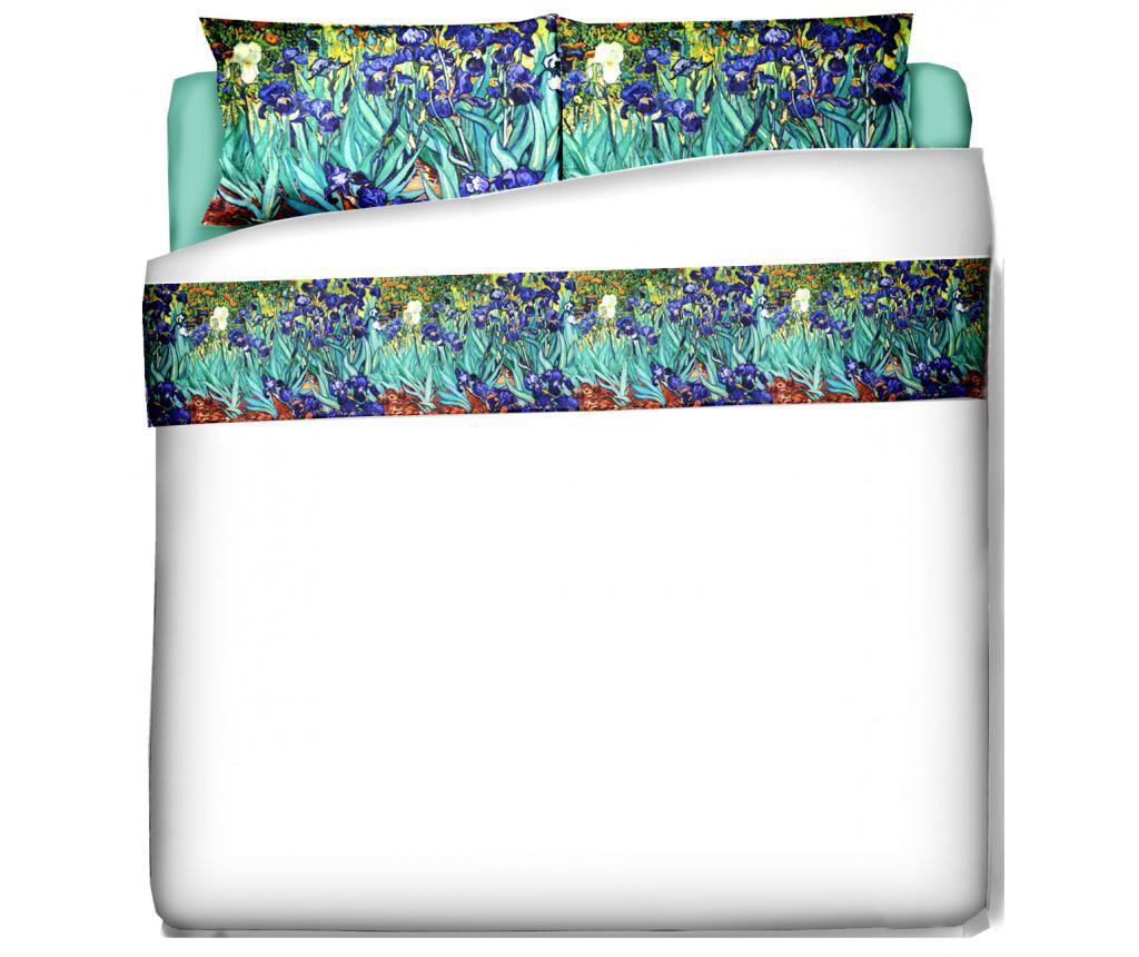 Set de pat Single Extra Van Gogh Iris - Polo Ovest, Multicolor imagine