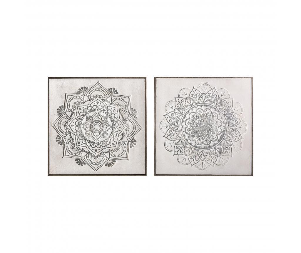 Set 2 tablouri Mandala 60x60 cm vivre.ro