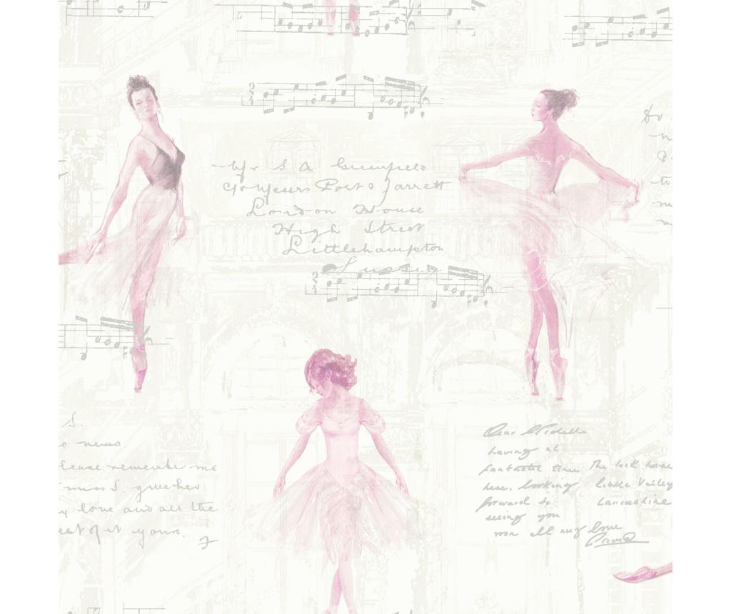 Tapet Pirouette Pink 53x1005 cm