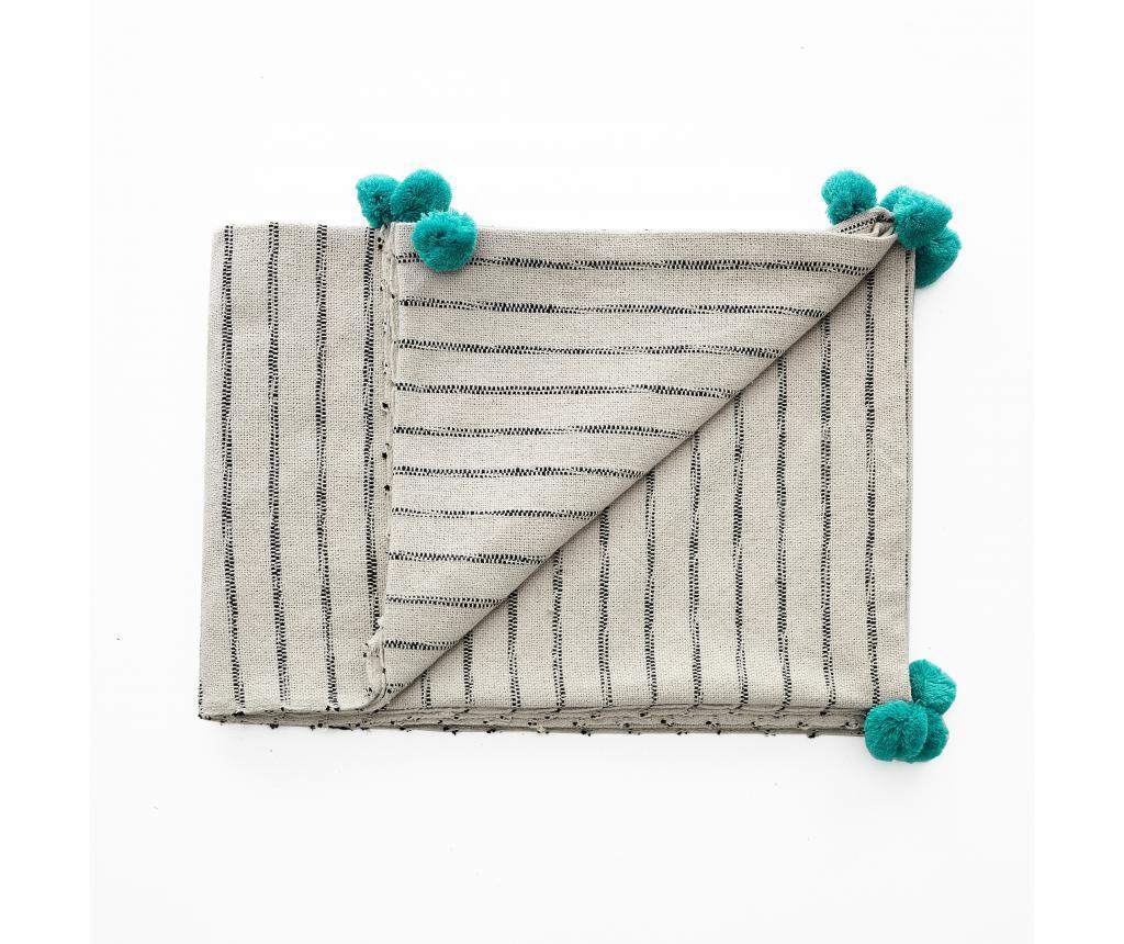 Pled Stripe-A Turquoise - Oresteluchetta, Albastru