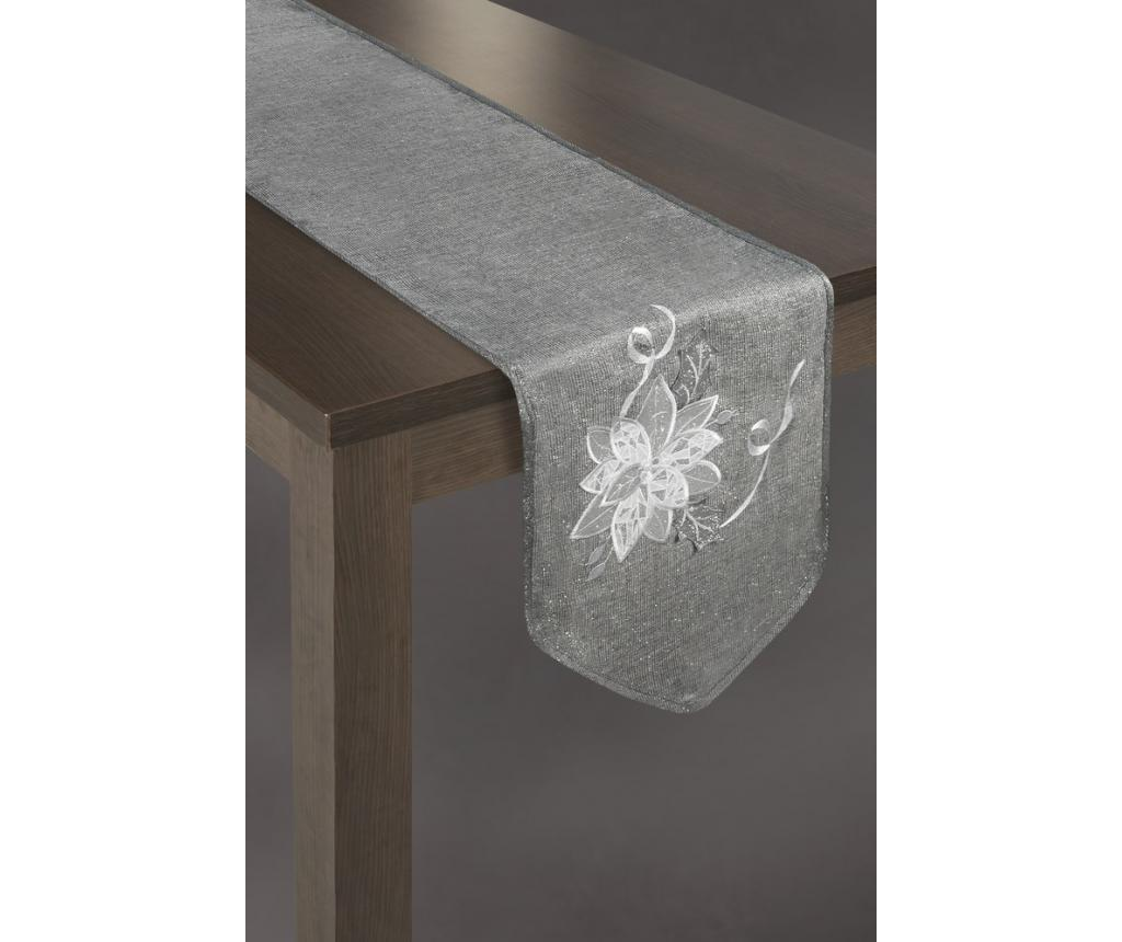Traversa de masa Flower Grey 33x180 cm imagine