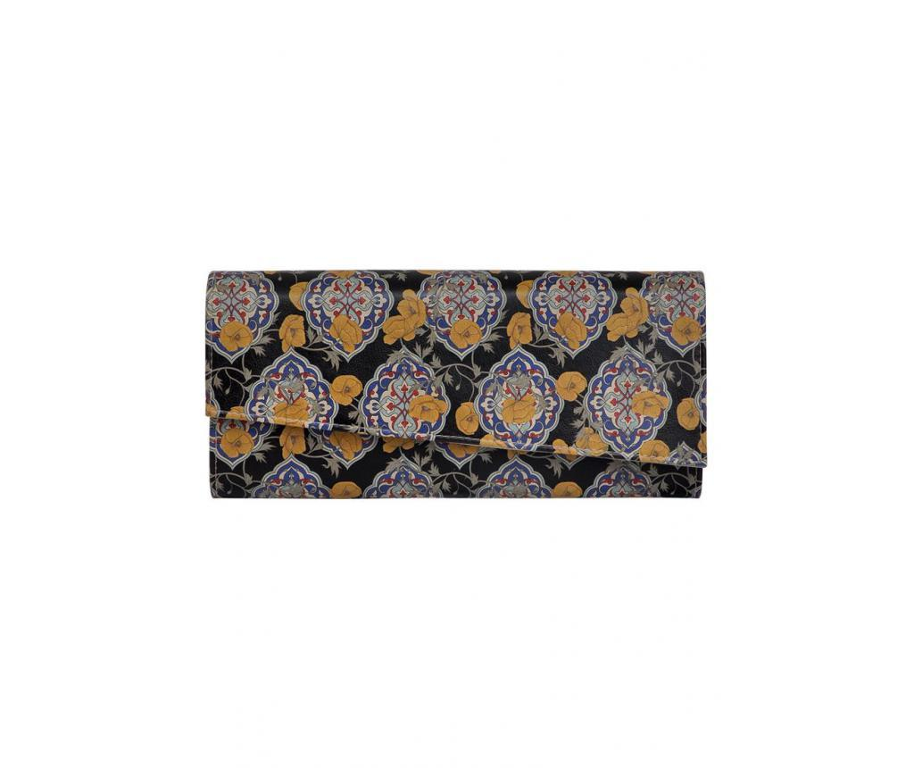 Geanta clutch Tiles and Flowers imagine