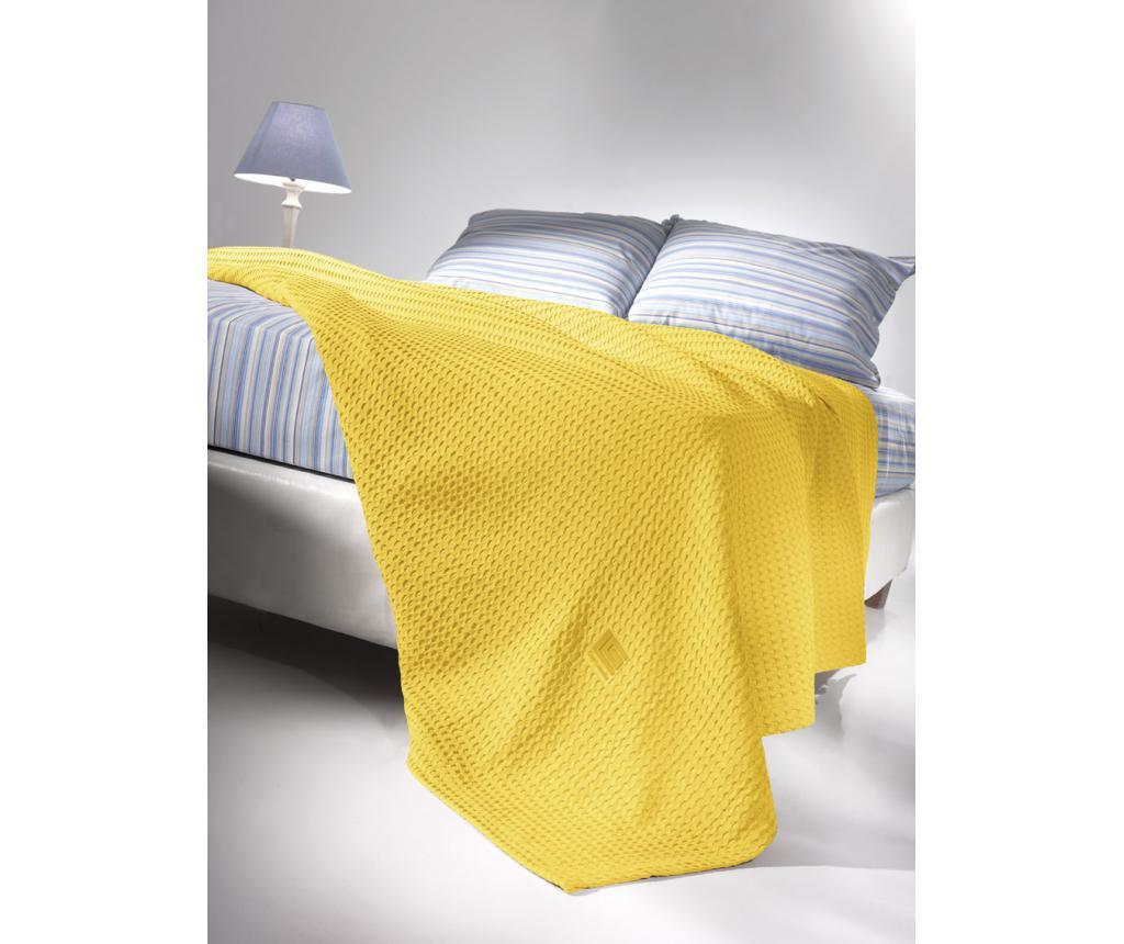 Patura Crystal Yellow 230x260 cm - Guy Laroche Home, Galben & Auriu imagine