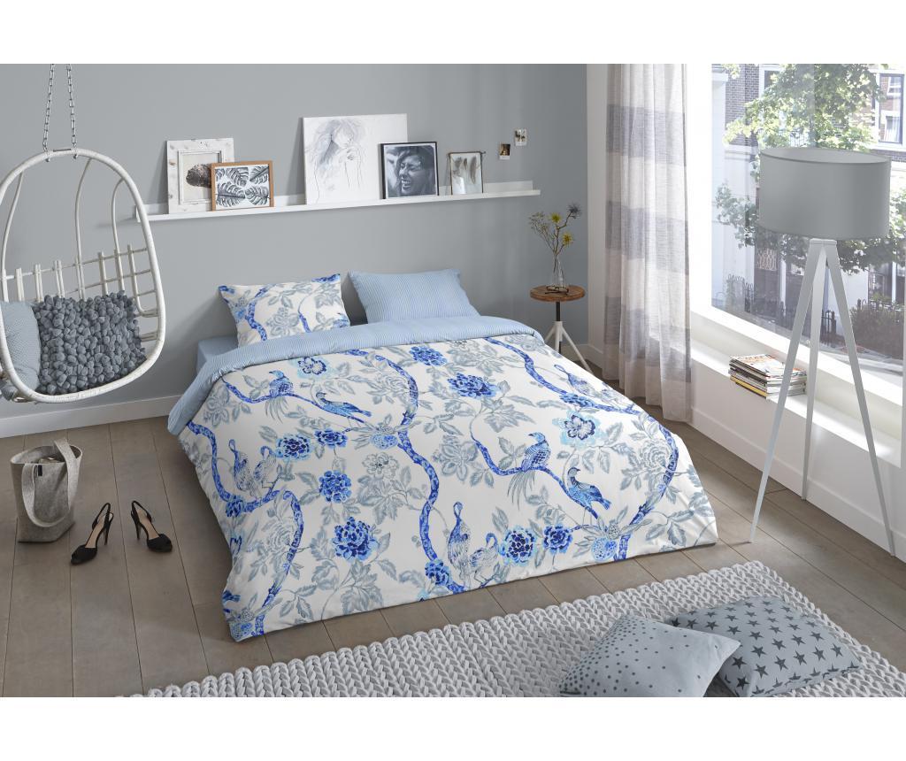 Set de pat Double Ming - Good Morning, Albastru imagine