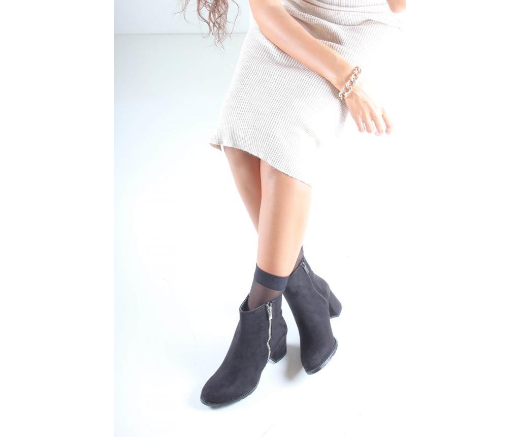 Botine dama 36 - inan shoes, Negru poza
