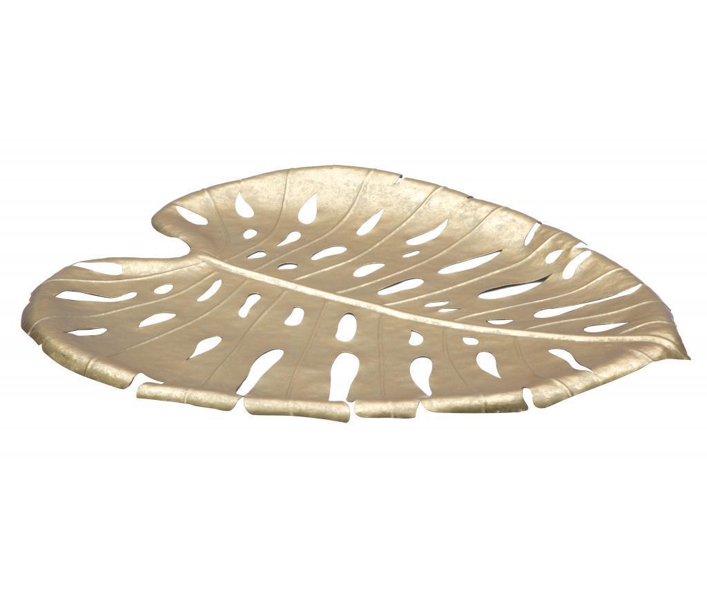 Tava decorativa Leaf - Mauro Ferretti, Galben & Auriu imagine