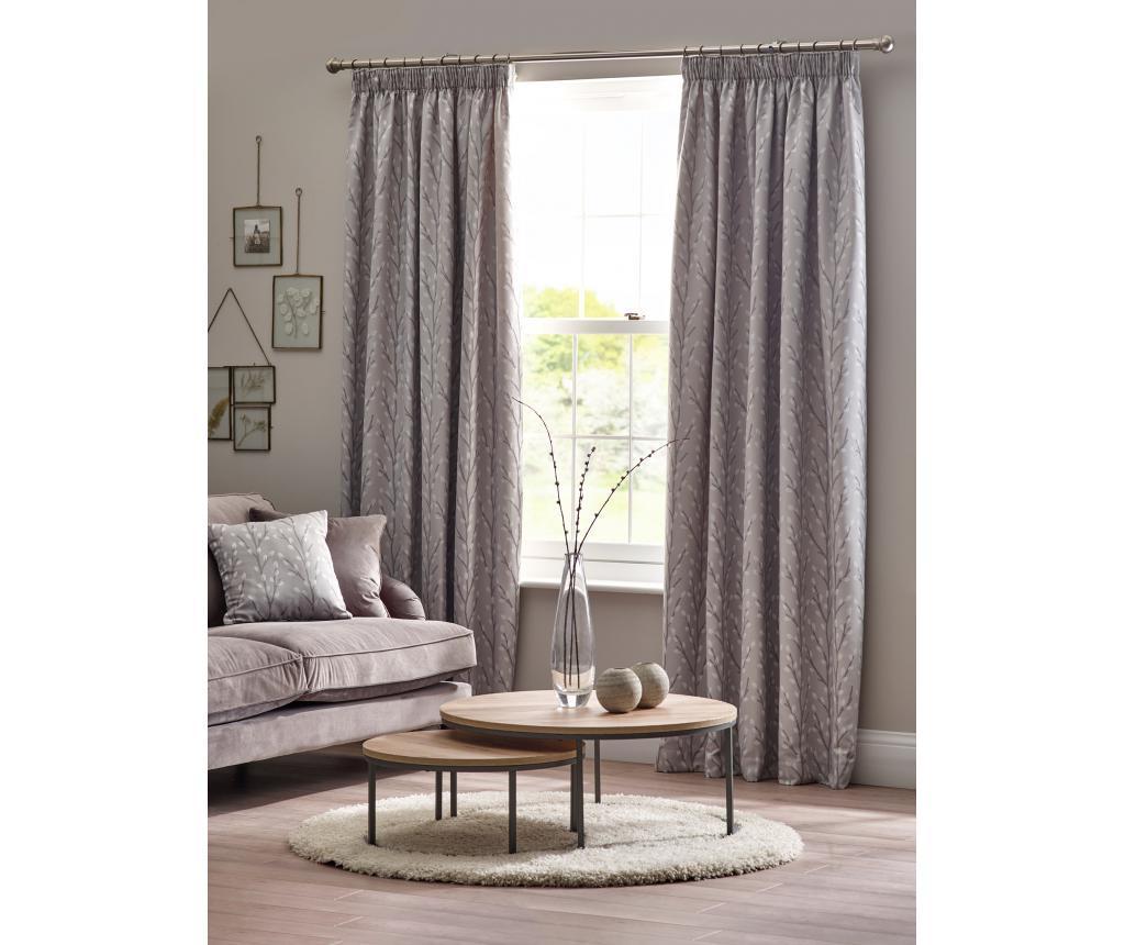 Set 2 draperii Sienna Grey 229x229 cm