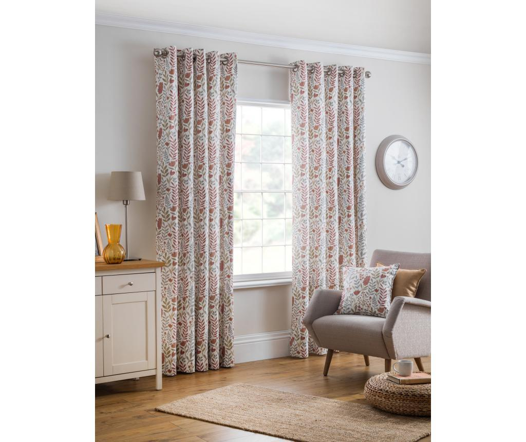 Set 2 draperii Everley Brown 229x183 cm - Design Studio, Maro imagine