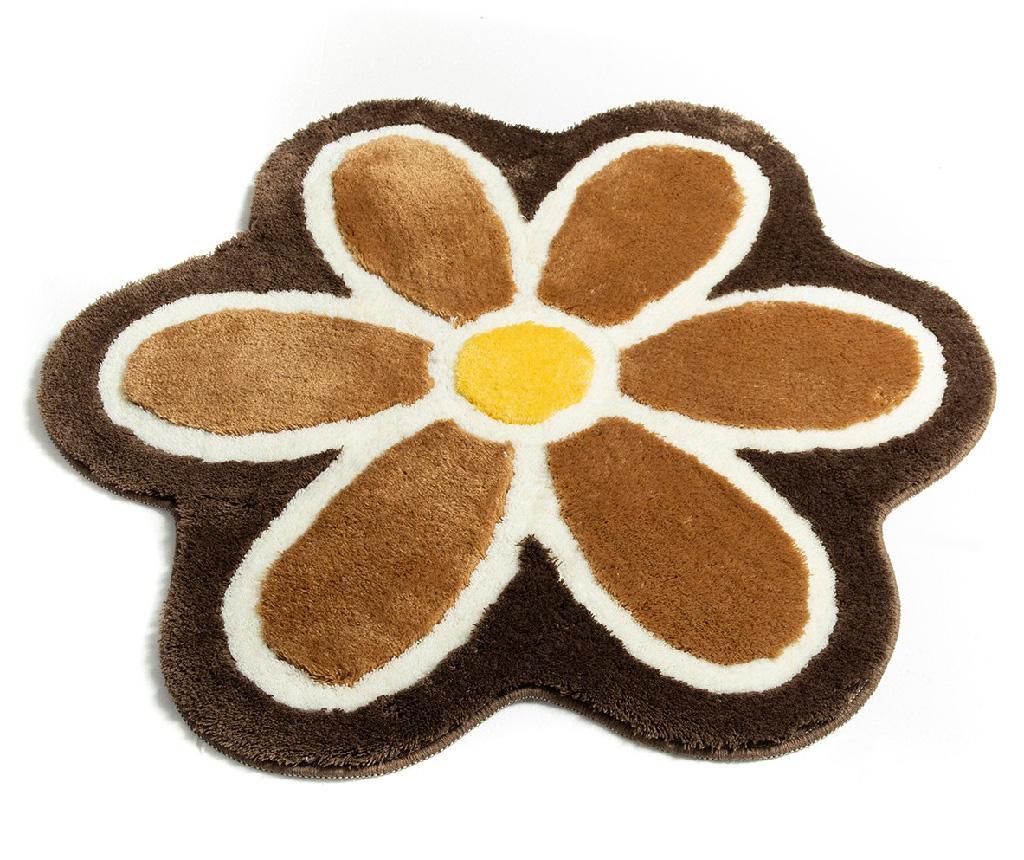 Covoras de baie Flower Coffee 90 cm - Chilai Home vivre.ro