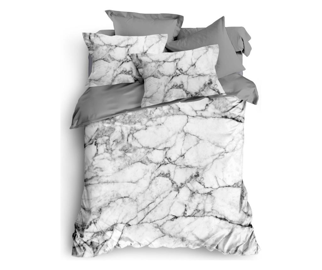 Lenjerie de pat King Grey Marble - The Club Cotton, Multicolor imagine