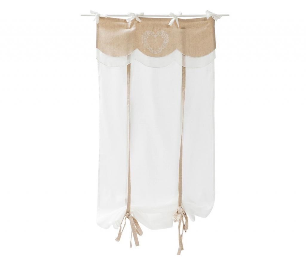 Set 2 draperii 60x220 cm - Disraeli, Alb imagine