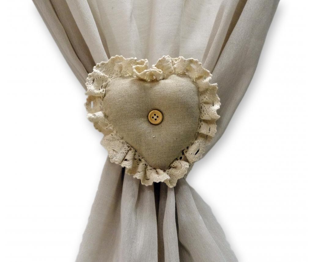 Set 2 accesorii pentru draperie - Disraeli, Crem