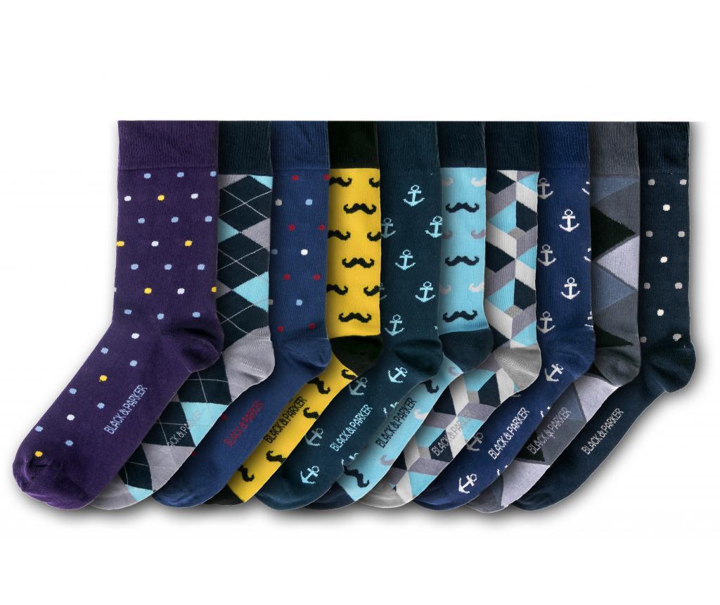 Set 10 perechi de sosete unisex Greater London 37-43 - Black&Parker, Multicolor