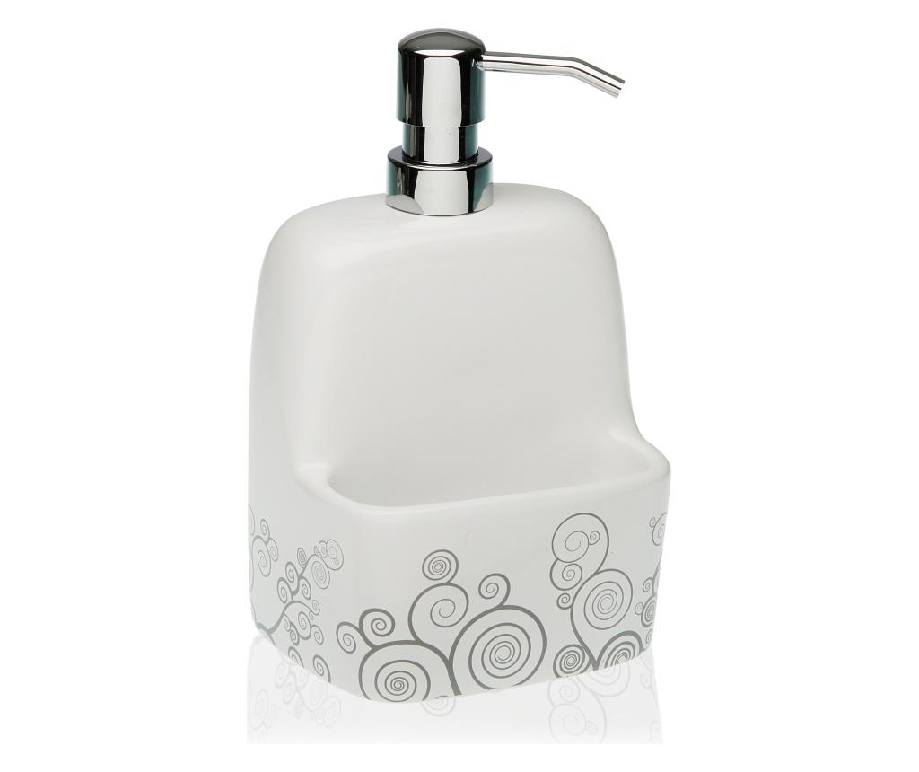 Dispenser pentru sapun lichid - Versa, Gri & Argintiu imagine vivre.ro