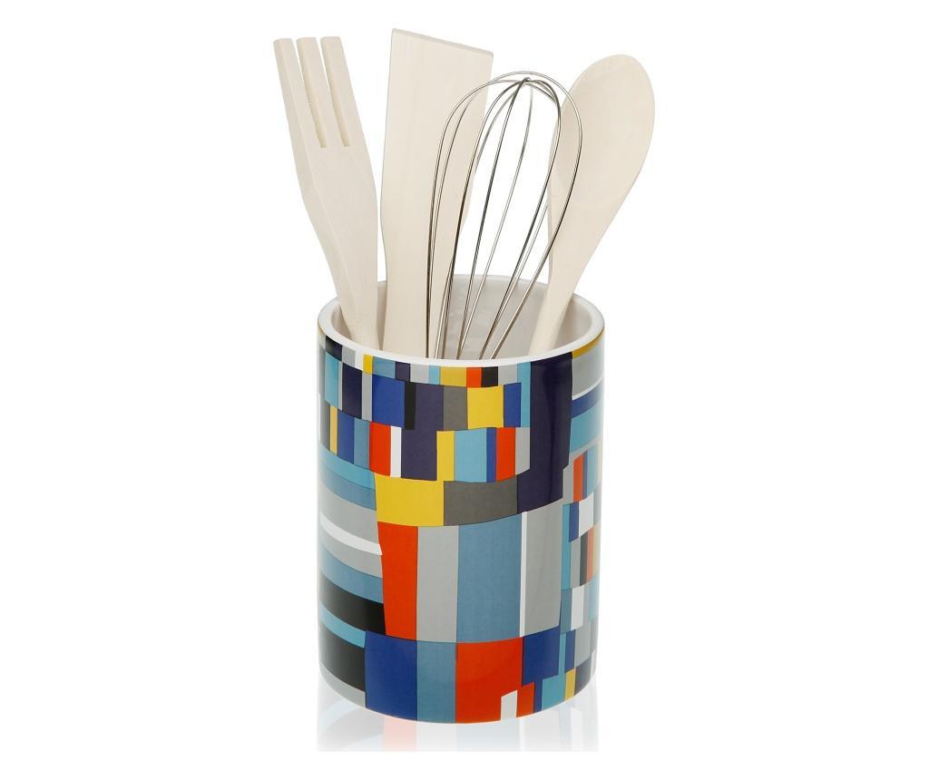 Suport ustensile de bucatarie - Versa, Multicolor imagine