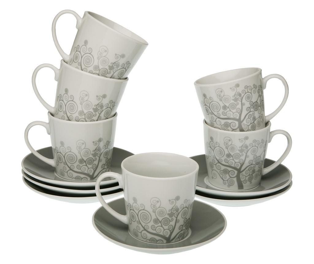 Set 12 piese pentru ceai - Versa, Gri & Argintiu imagine