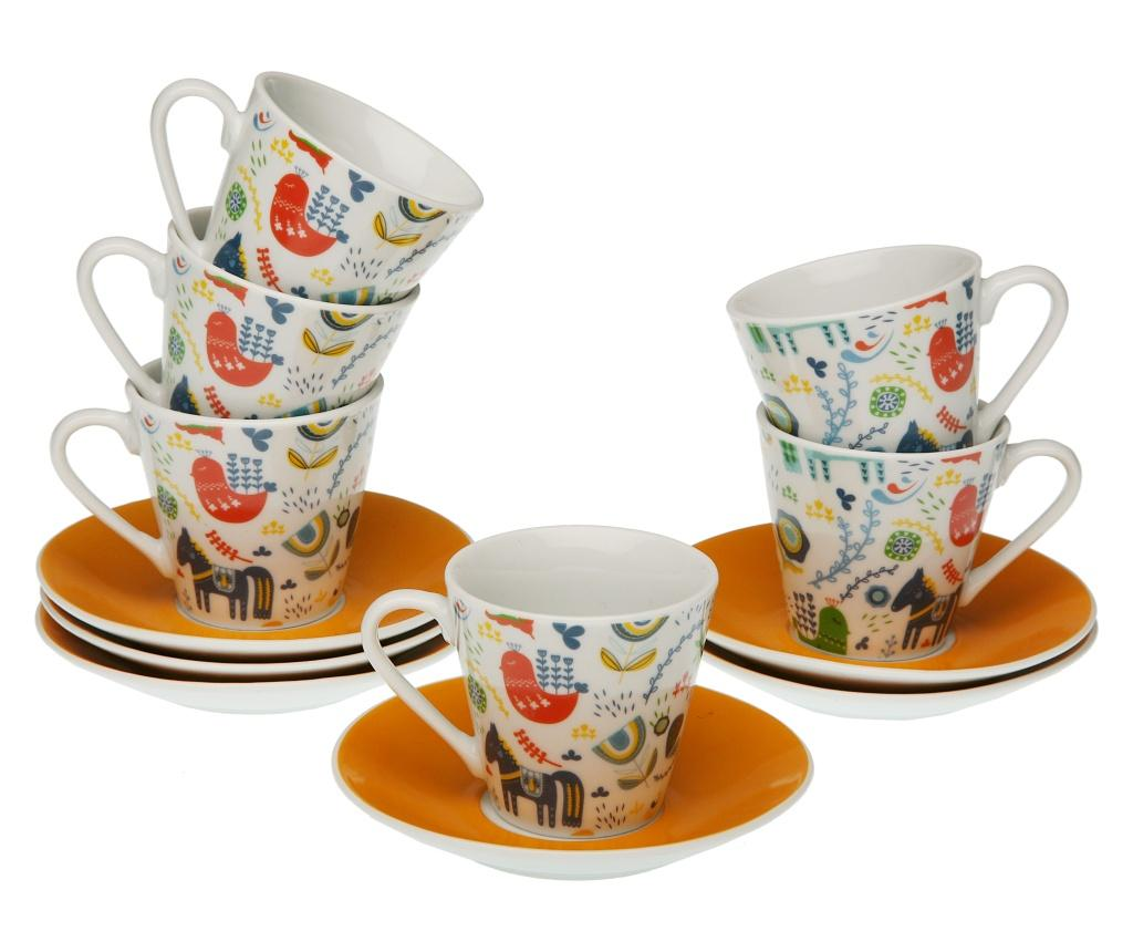 Set 12 piese pentru cafea - Versa, Multicolor vivre.ro