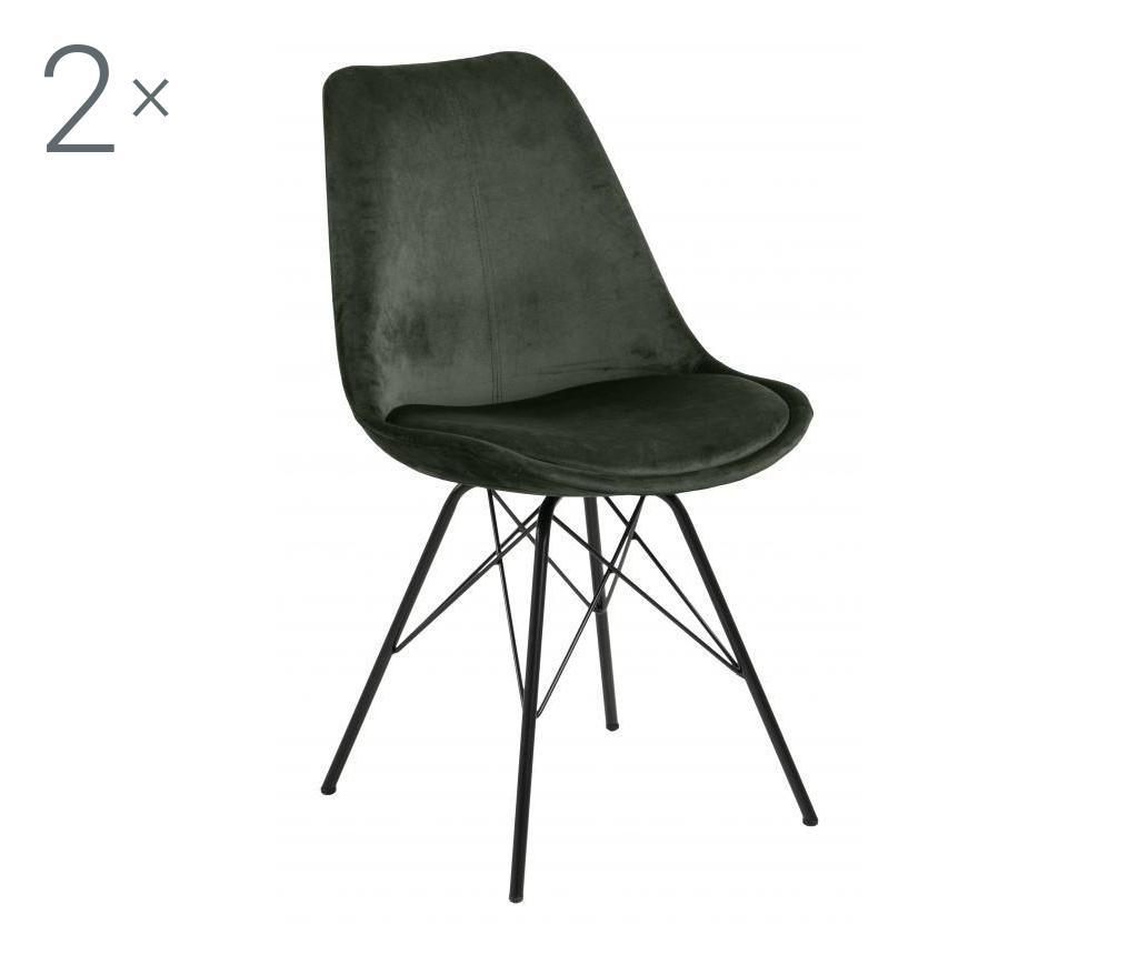 Set de 2 scaune dining Eris Green - actona, Verde imagine