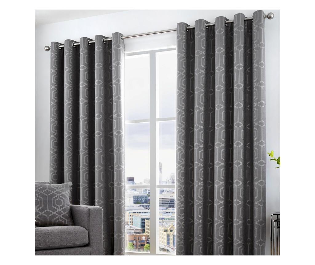 Set 2 draperii Camberwell Dark Grey 117x183 cm