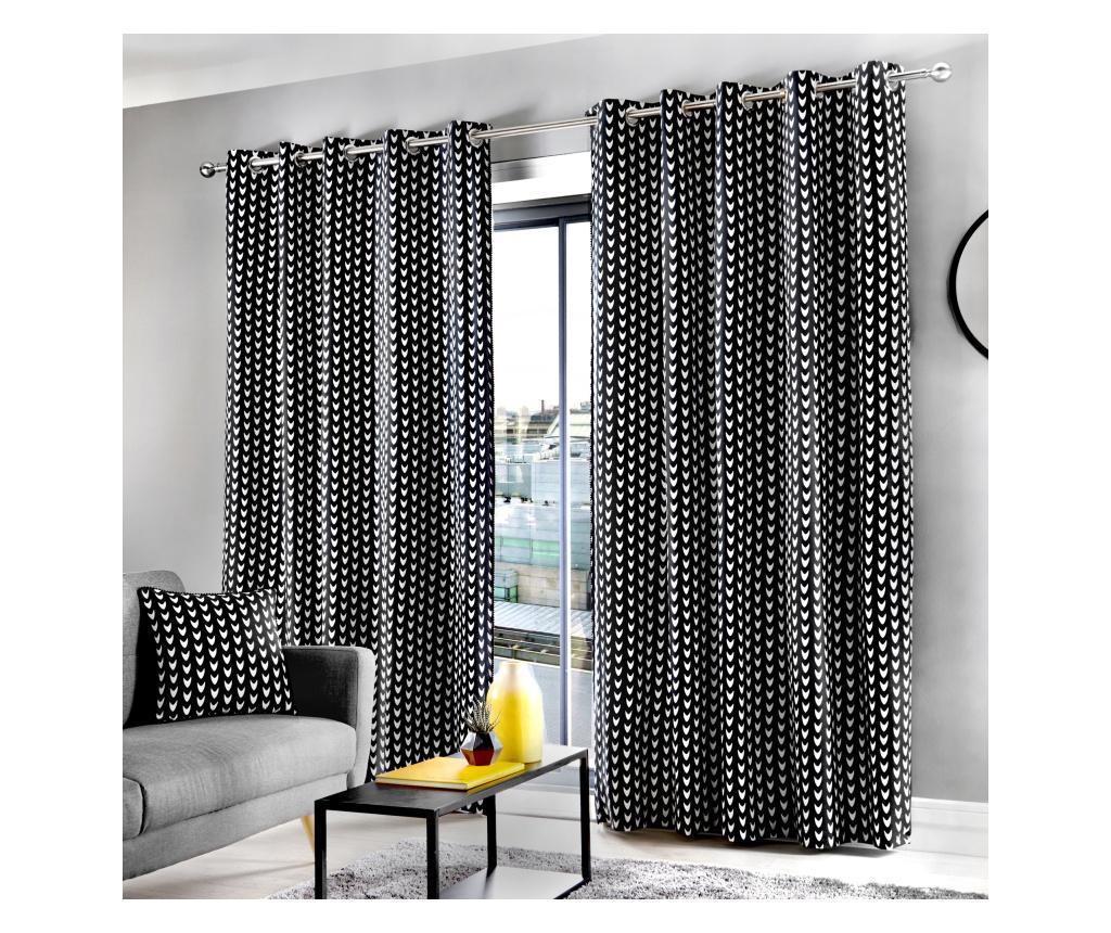 Set 2 draperii Dari Black 183x168 cm