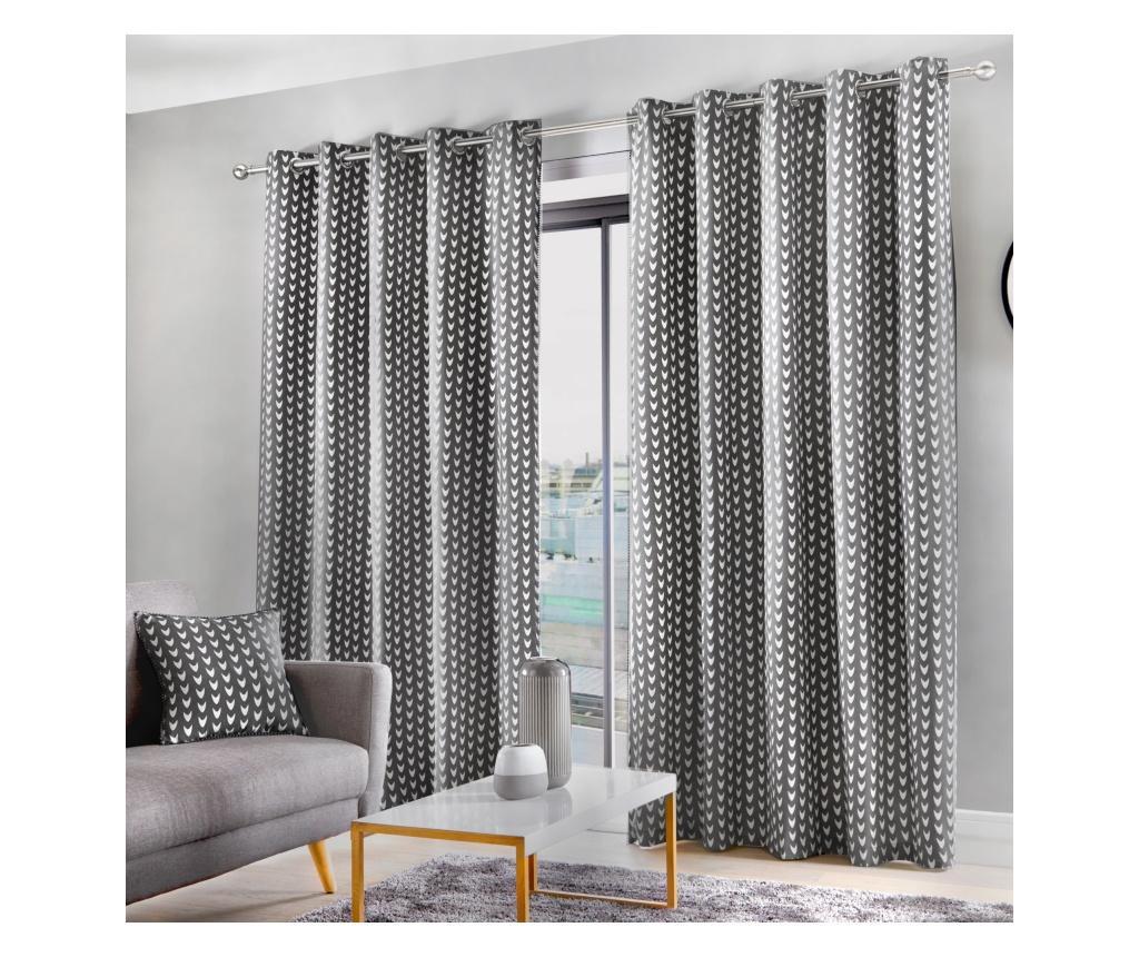 Set 2 draperii Dari Grey 229x168 cm vivre.ro