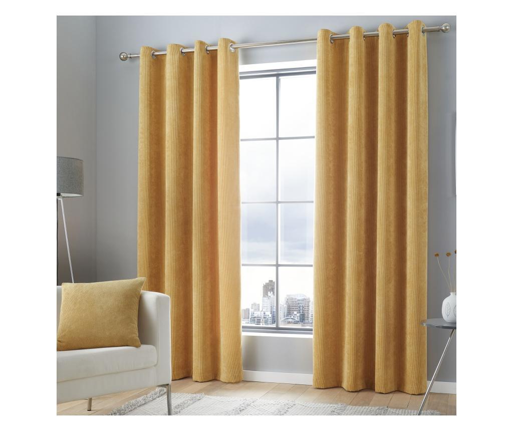Set 2 draperii Kilbride Cord Gold 117x137 cm