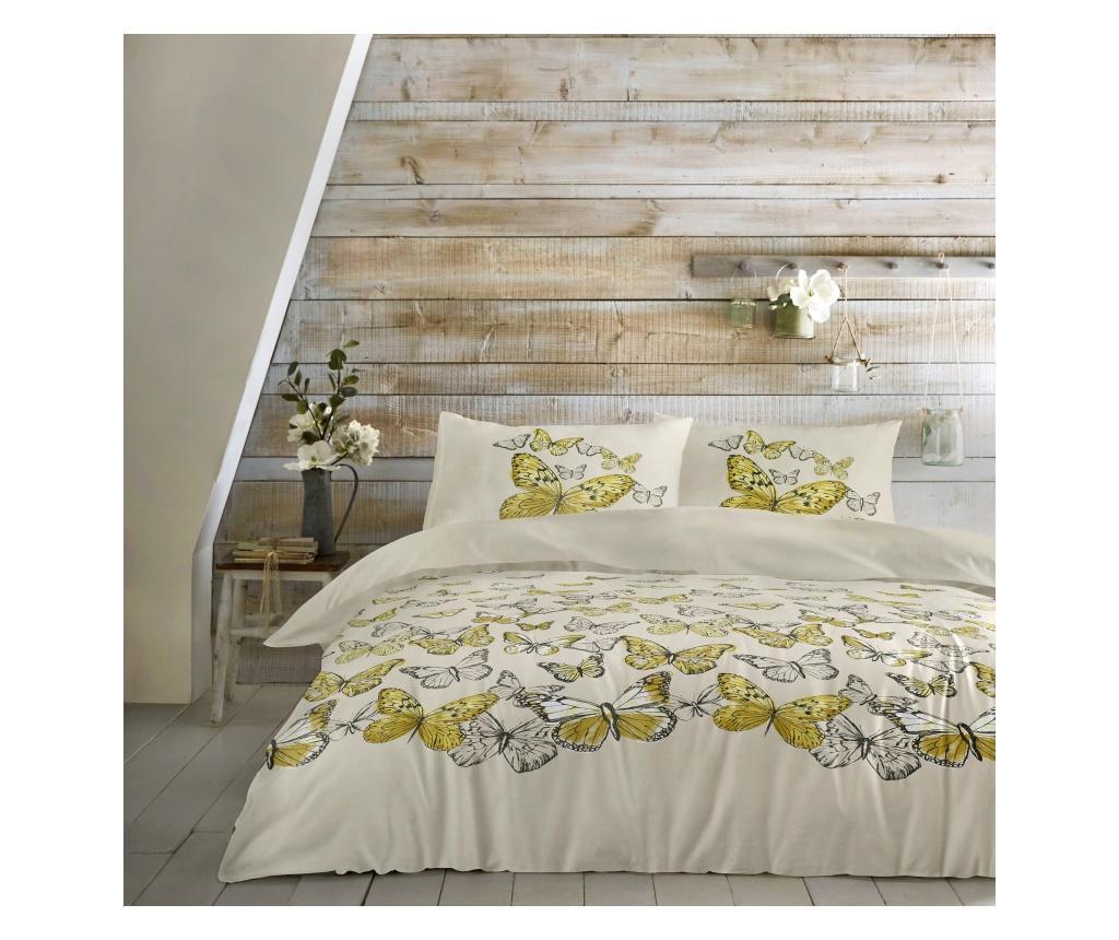 Set de pat Mariposa Yellow Double