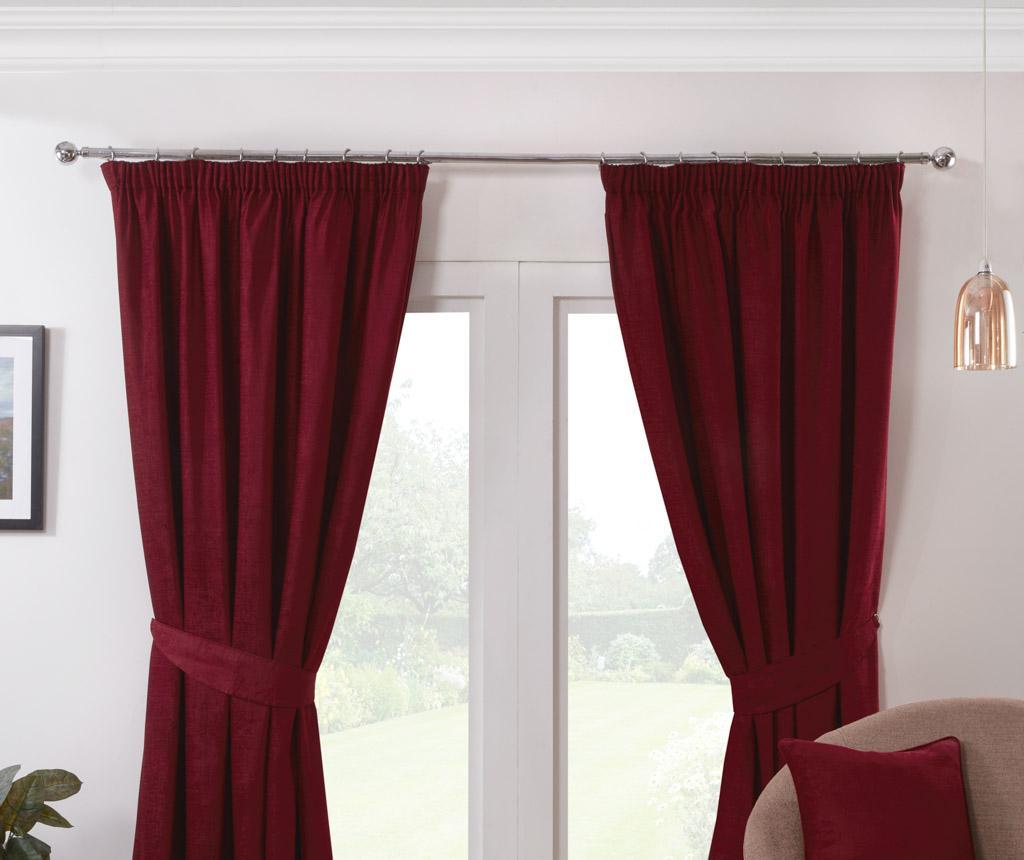Set 2 draperii Austin Red 229x137 cm imagine