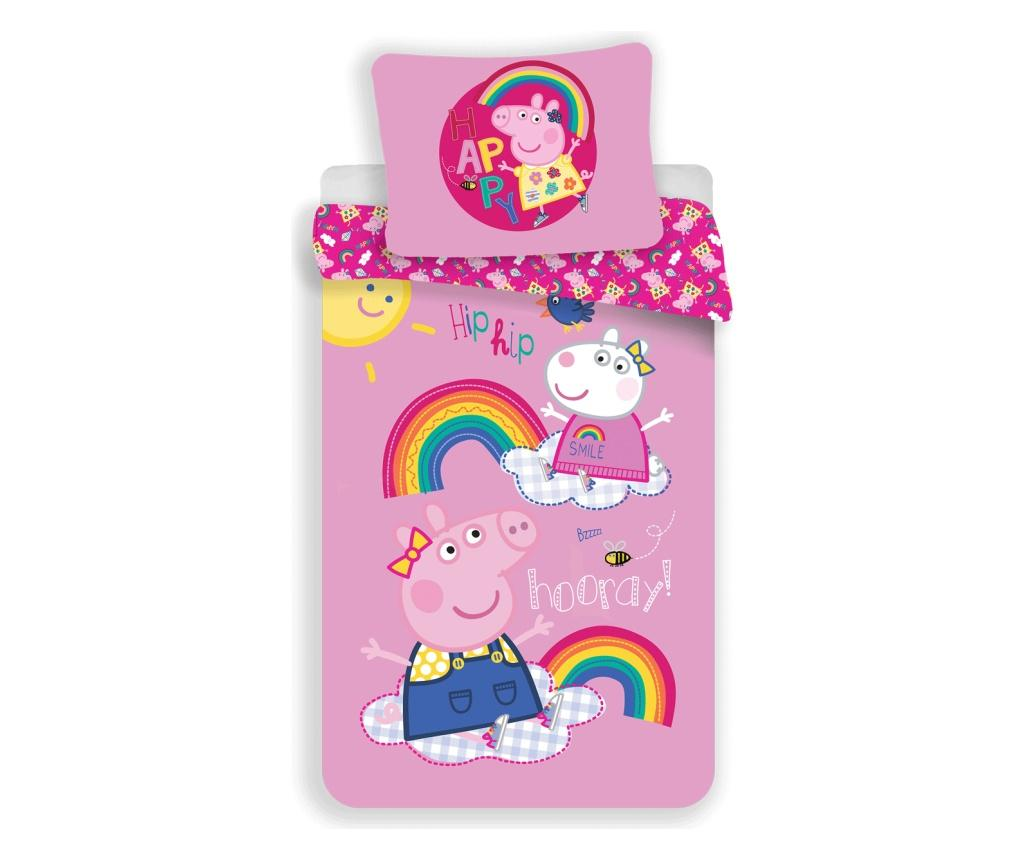 Set de pat Single Ranforce Peppa Pig