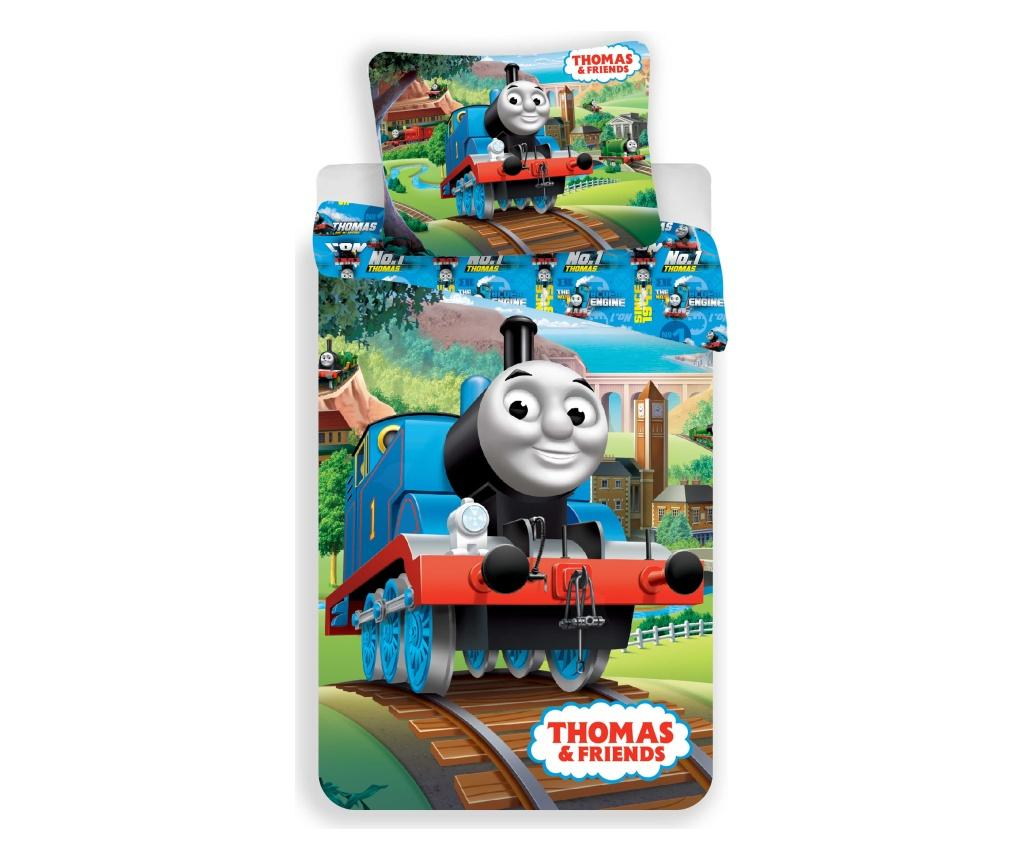 Set de pat Single Ranforce Thomas and Friends - Thomas and Friends, Multicolor imagine