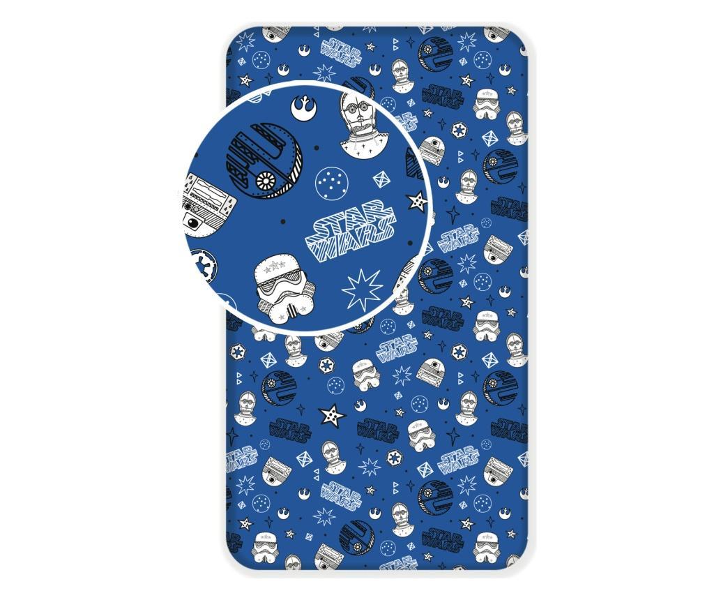 Cearsaf de pat Disney Star Wars Blue 90x200 cm