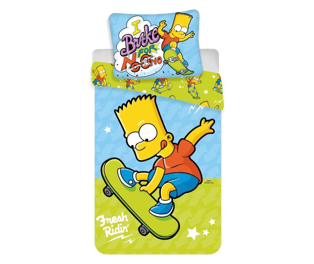 Set de pat Single Ranforce Simpsons Bart imagine