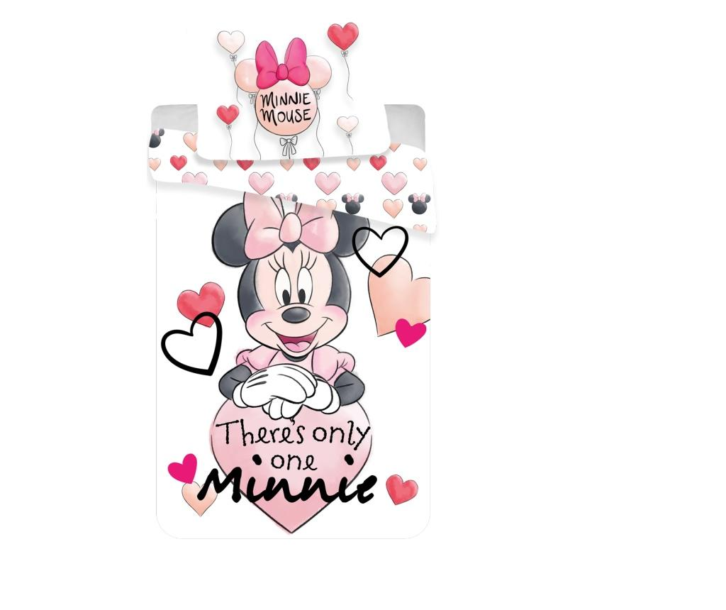 Set de pat Single Ranforce Minnie Pale