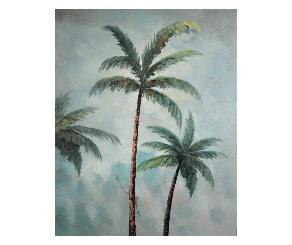 Tablou Palm Trees 80x100 cm - Eurofirany, Albastru imagine