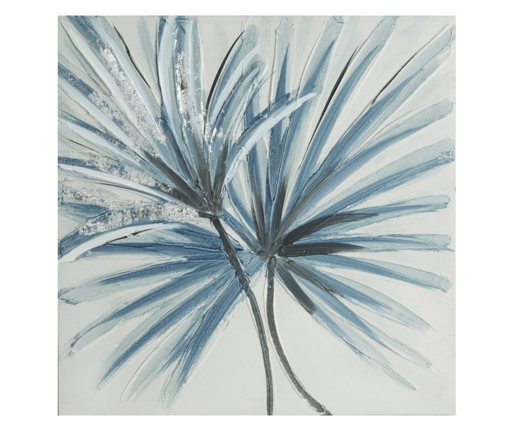 Tablou Blue Flowers 40x40 cm