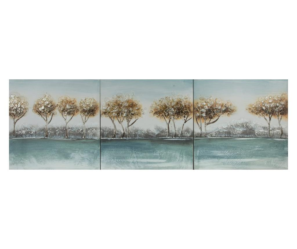 Set 3 tablouri Lake View 50x50 cm