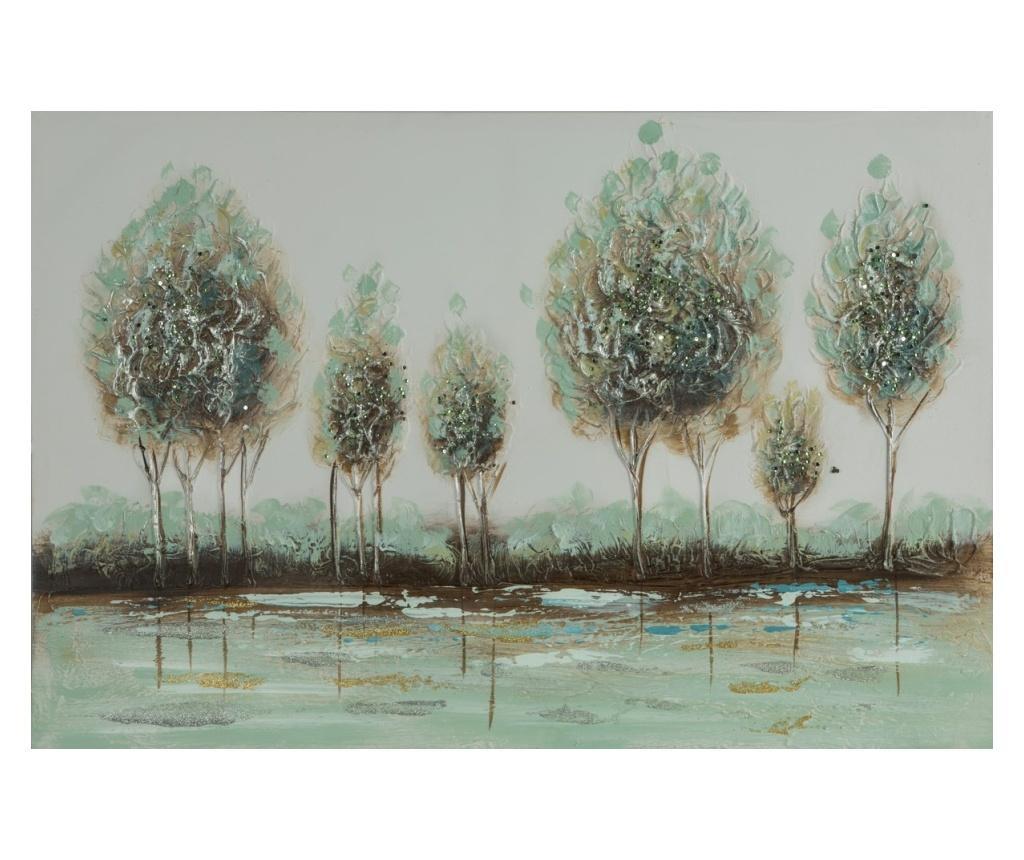 Tablou Trees 60x90 cm - Eurofirany, Verde imagine