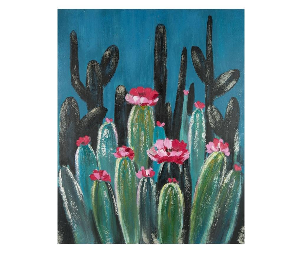 Tablou Cactus 80x100 cm - Eurofirany, Albastru imagine