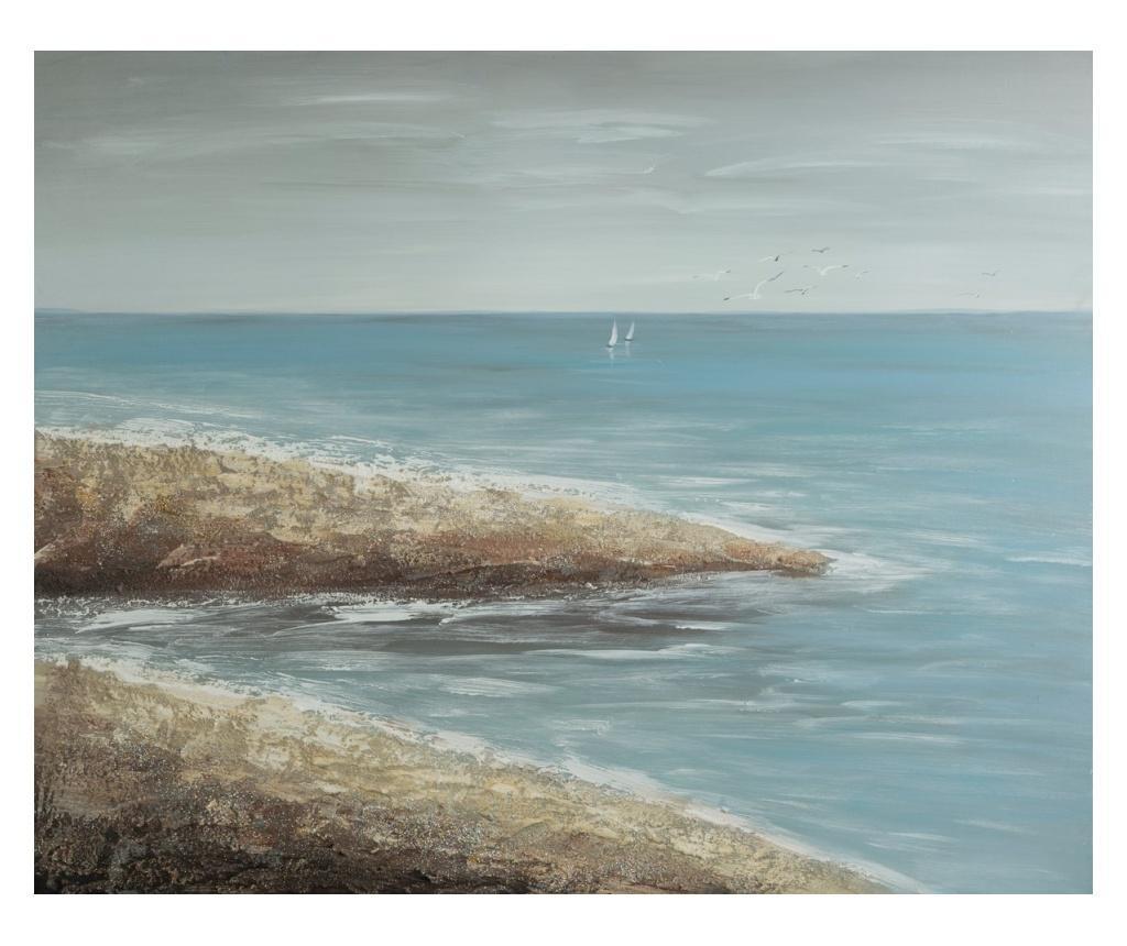 Tablou Beach 80x100 cm - Eurofirany, Albastru imagine