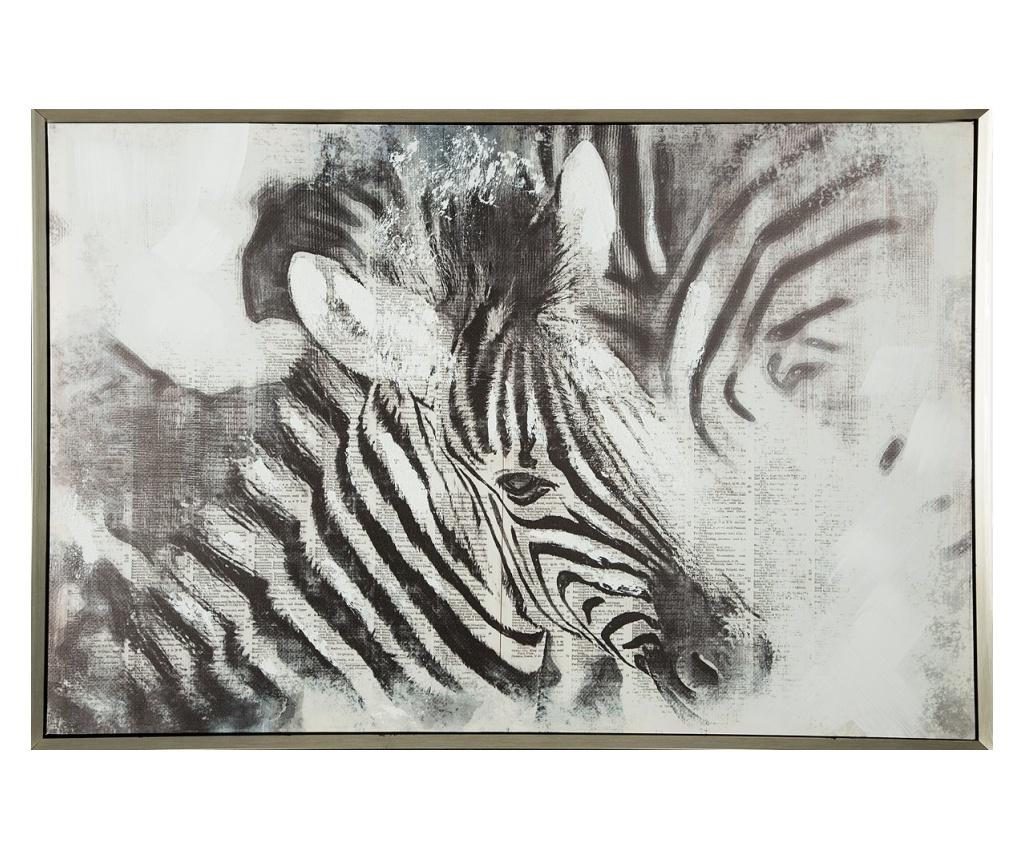 Tablou Zebra 63x93 cm - Eurofirany, Gri & Argintiu imagine
