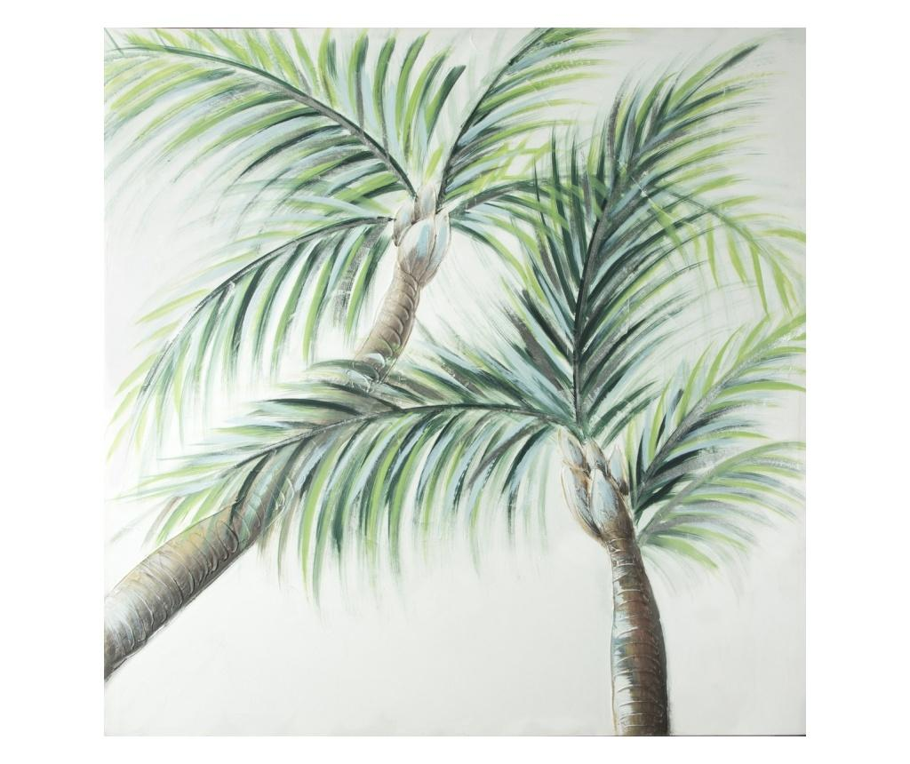 Tablou Palm Trees 100x100 cm - Eurofirany, Verde imagine