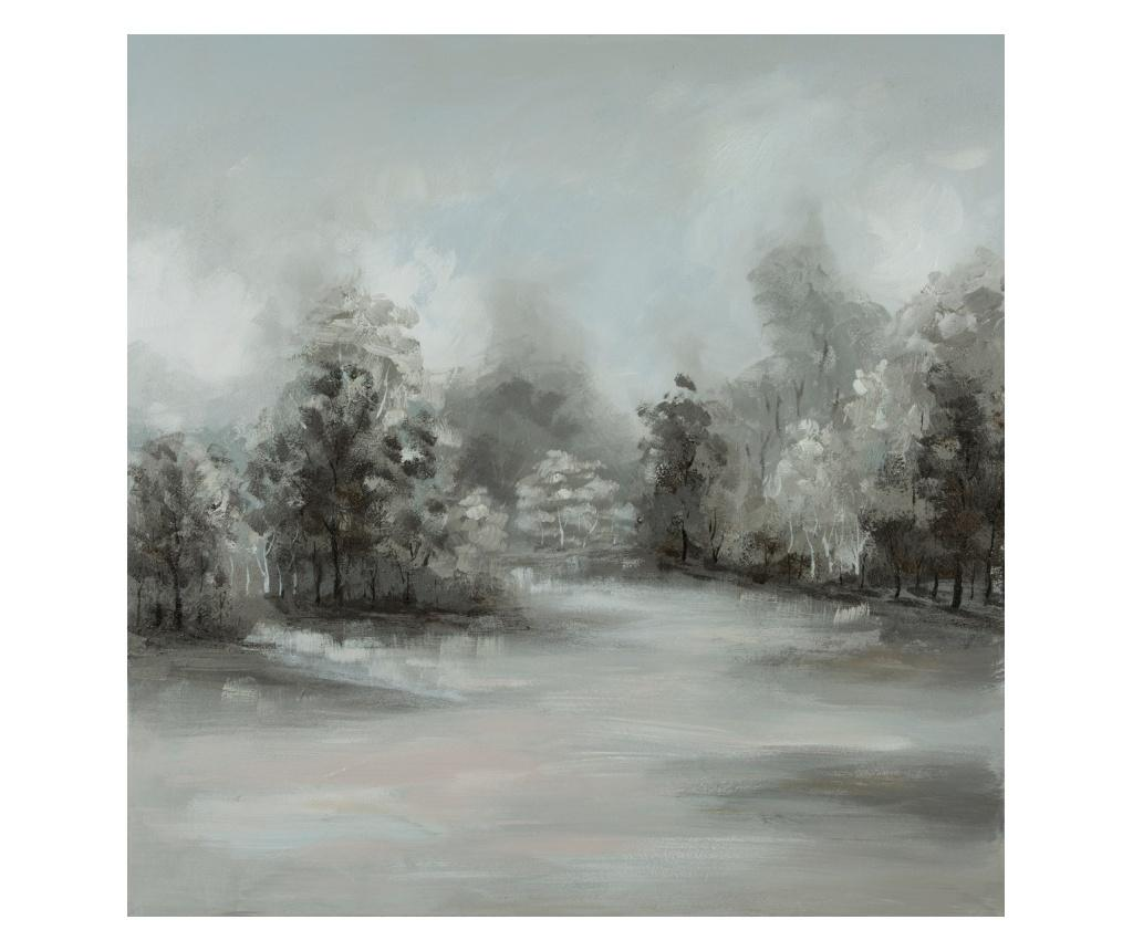 Tablou Frozen 80x80 cm - Eurofirany, Gri & Argintiu imagine
