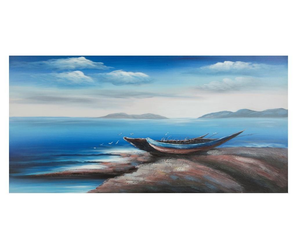 Tablou Island 60x120 cm - Eurofirany, Albastru
