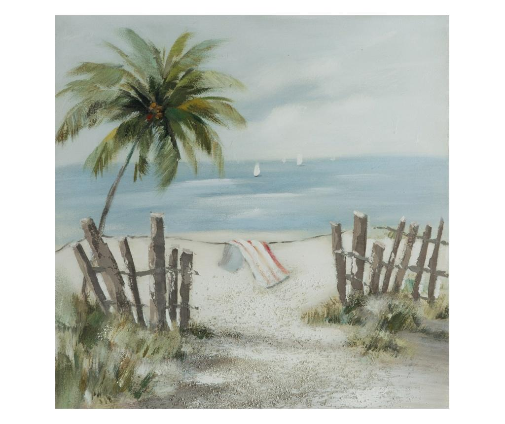 Tablou Beach 60x60 cm - Eurofirany, Verde imagine