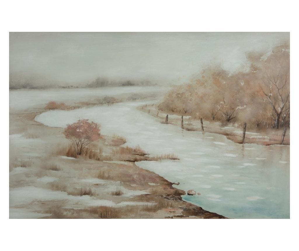 Tablou River 60x90 cm - Eurofirany, Crem