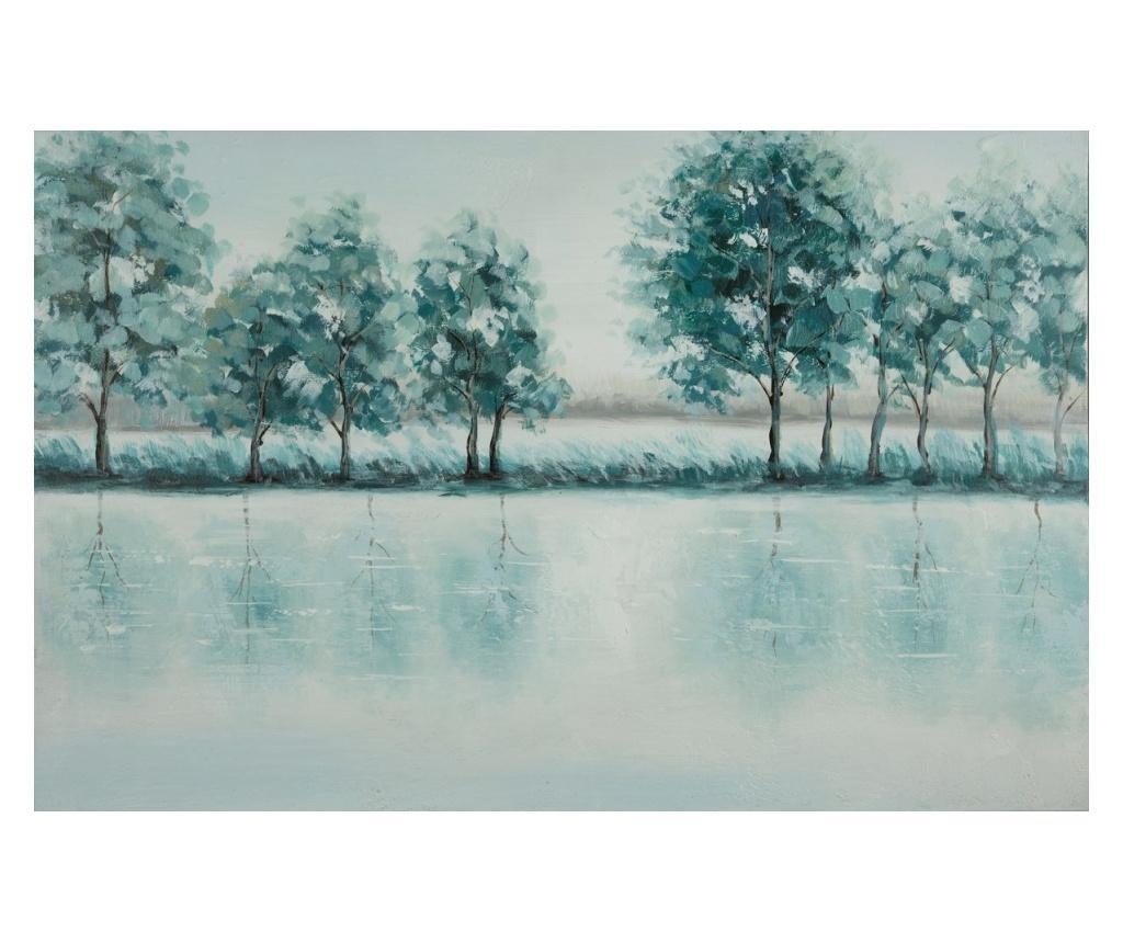 Tablou Blue Lake 60x90 cm - Eurofirany, Albastru imagine